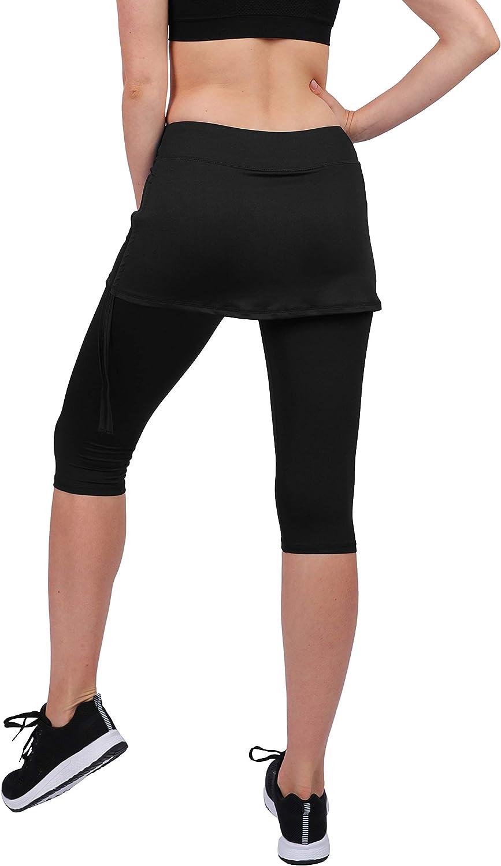 HonourSport Faldas Deportivas para Mujer Pantalones Cortos con Bolsillos Cordones
