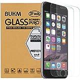 [2 Pack] iPhone 6 Plus/6s Plus Protection écran en Verre Trempé,Bukm Premium Protecteur d'écran en verre 2.5D Edge avec [Ultra résistant] [Sans bulle] Film Protection pour iPhone 6 Plus 6s Plus 5,5 pouces