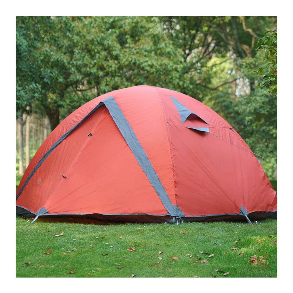 屋外テント、キャンプハイキングキャンプテント防風防雨通気性大スペースダブルスリーシーズンアルミポールテントダブル/スリー (色 : Red, Size : 210x300x120cm) B07TZMMYCT Red 210x300x120cm