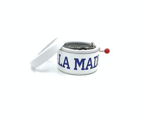 Caja de música ¡¡¡HALA MADRID!!! El regalo perfecto para los seguidores del Real Madrid. Suena su himno.: Amazon.es: Handmade
