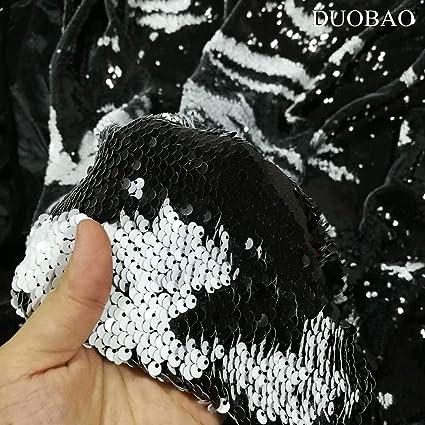 Amazon DUOBAO Mermaid Fabric Shower Curtain Sequin Two