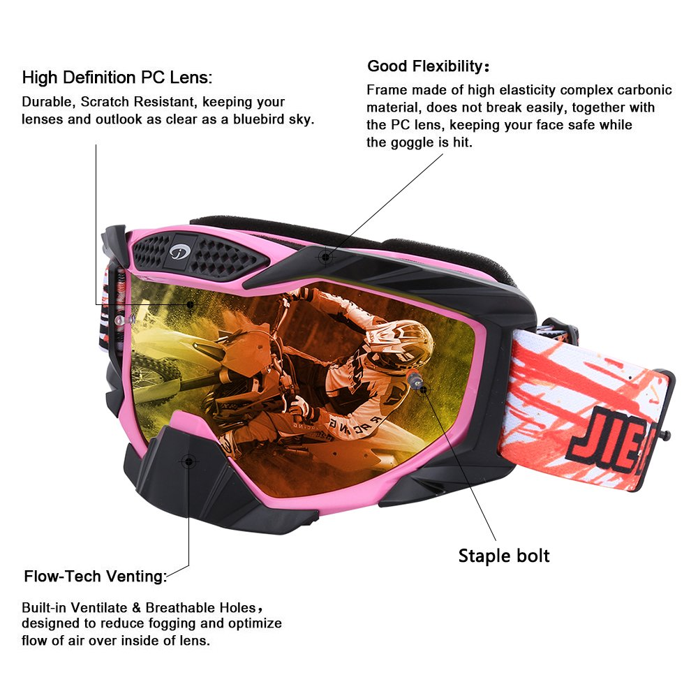 Amazon.com: JIEPOLLY Gafas de motocross, ATV Dirt Pit ...