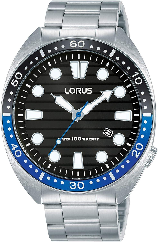 LORUS Reloj Analógico para Hombre de Cuarzo con Correa en Acero Inoxidable RH921LX9