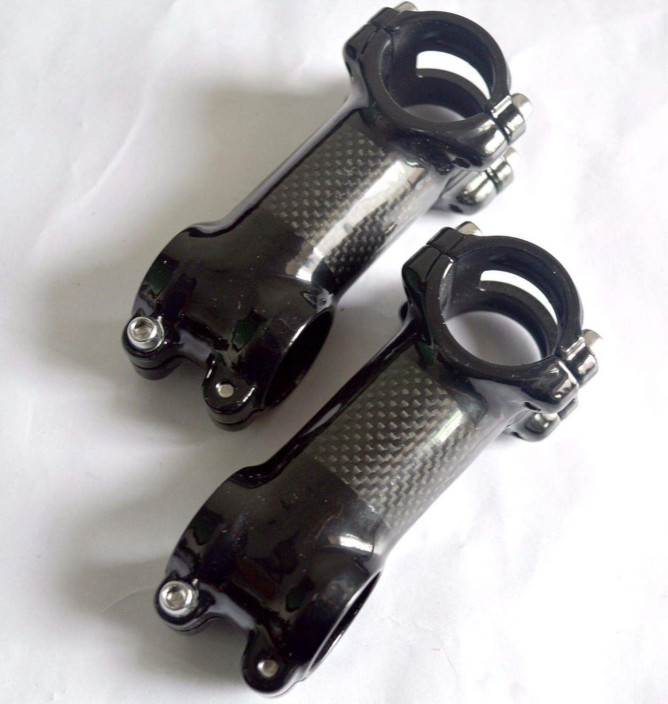 FidgetKute Full Carbon Fiber 1-1/8' 3K 31.8 6° 17° MTB Road Bike Bicycle Handlebar Bar Stem