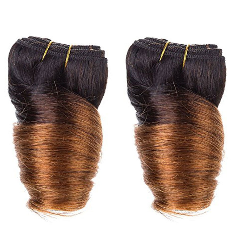 8 Inch Ombre Brazilian Hair Loose Wave Virgin Hair 4 Pcs Lot 200g Fashion Bob Hair Extensions Short Human Hair Weave Loose Wave (1B) Lilika