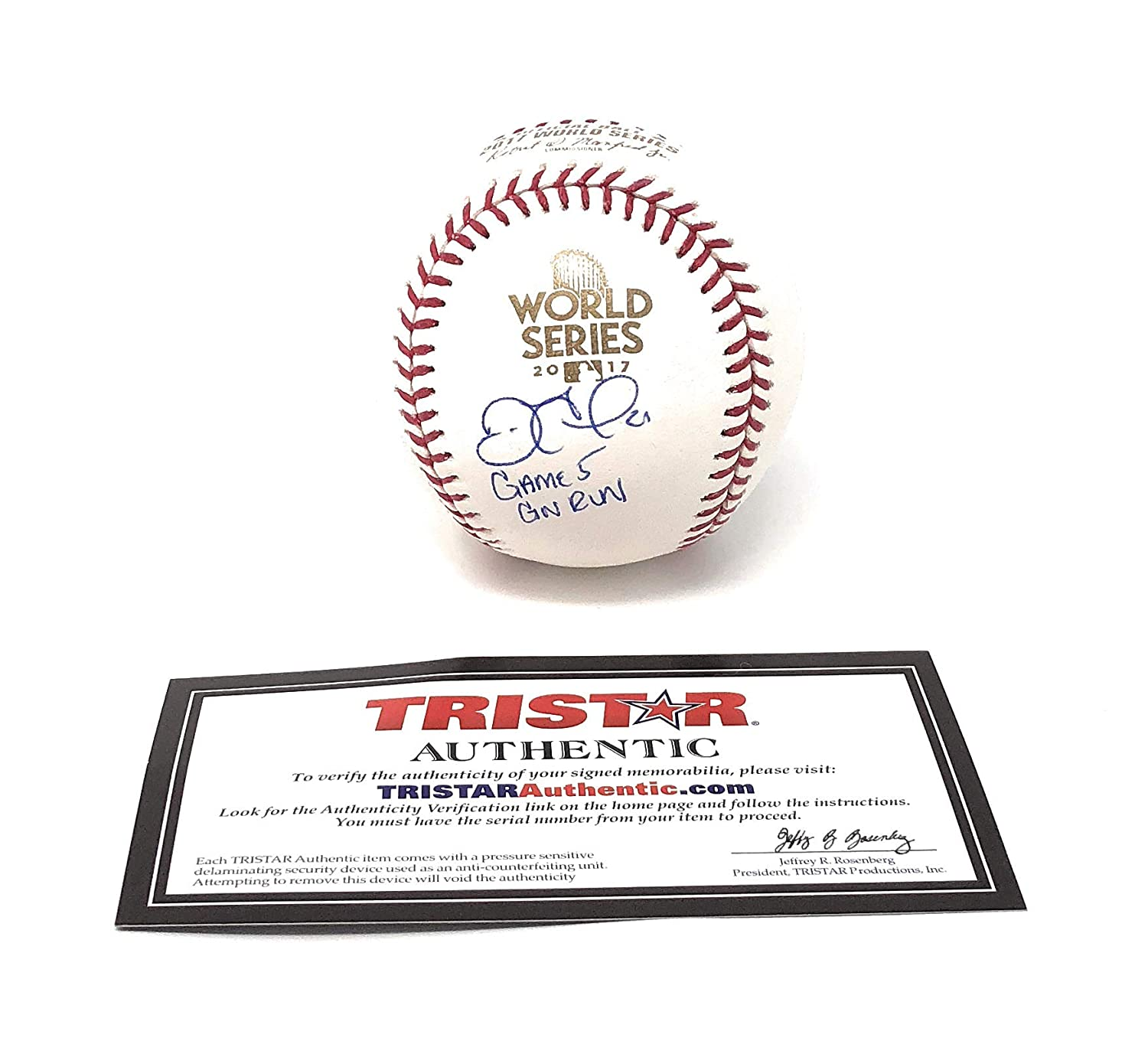 Derek Fisher Houston Astros Signed Autograph Official MLB World Series Baseball Inscribed Game 5 GW Run Limited Edition Tristar Authentic Certified