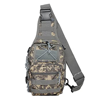 Amazon.com : Tactical Sling Bag Cross Body Chest Rucksack Military ...