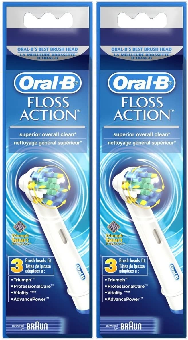 Oral B FlossAction Electric Toothbrush Replacement Brush Heads - 3 ct - 2 pk