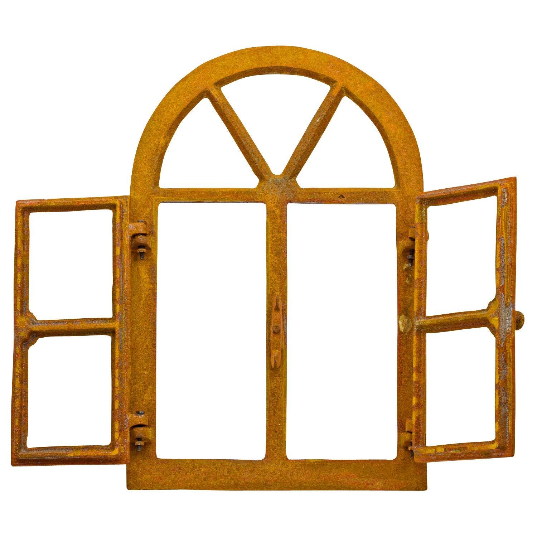 Stallfenster Fenster zum Öffnen Scheunenfenster Eisen Rost 38 x 57,5cm Antikstil
