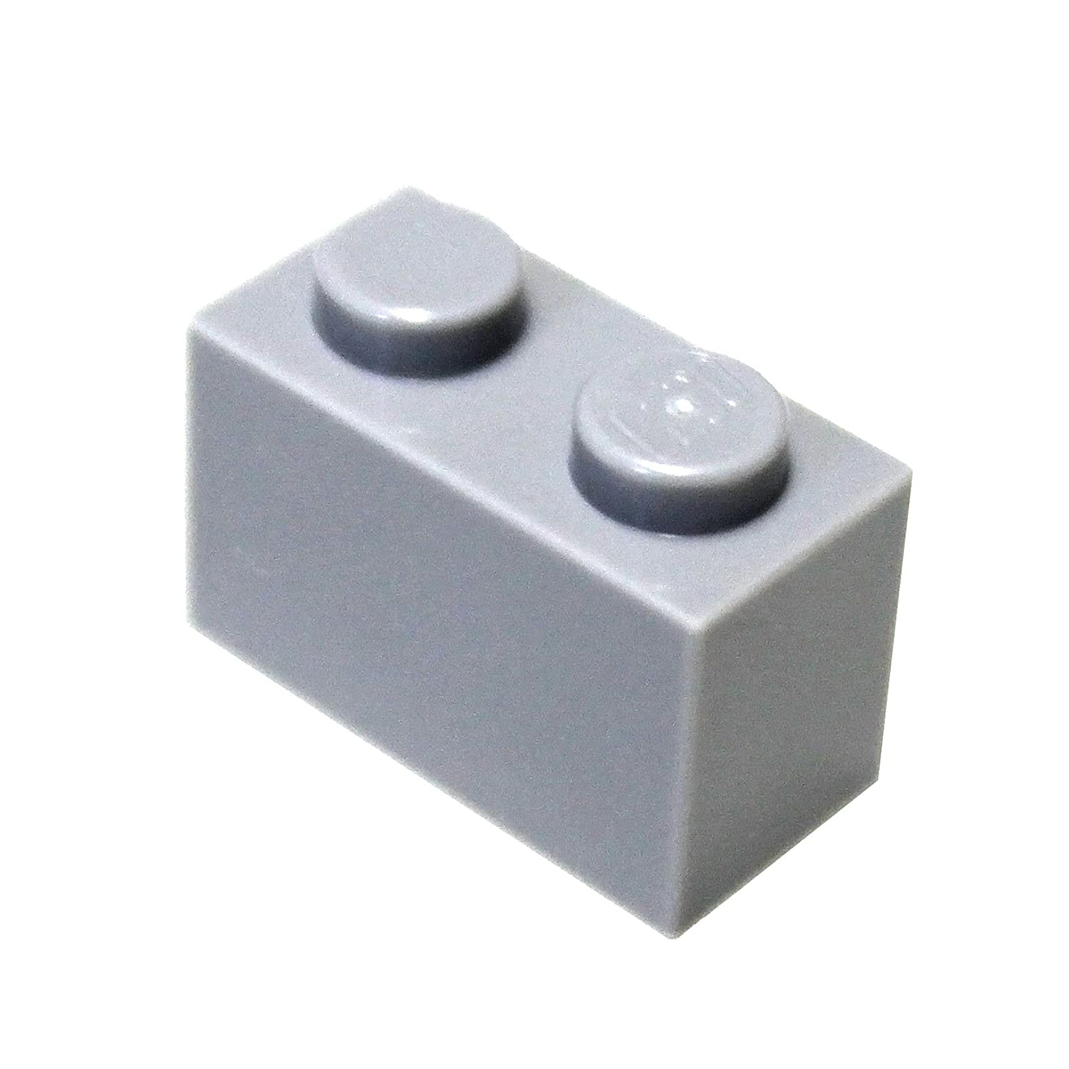 LEGO Lot of 4 Light Bluish Gray 2x4 Slope Pieces
