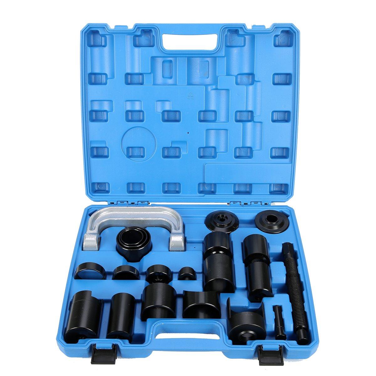 8milelake Universal 21PCS Ball Joint Repair Service Removal Tool Kit Remover Installer Master Adapter Set freebirdtrading
