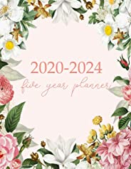 2020-2024 Five Year Planner: Monthly Logbook and Journal, 60 Months Calendar (5 Year Monthly Agenda 2020, 2021, 2022, 2023,
