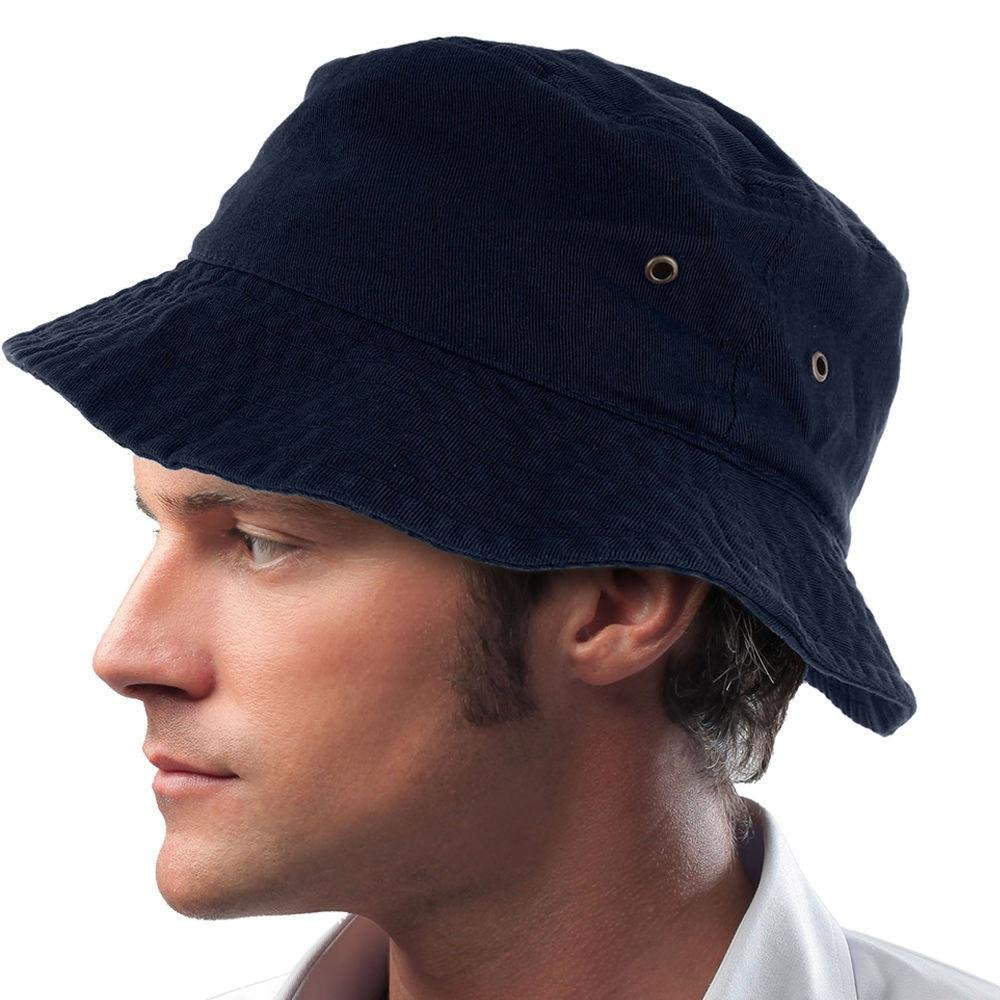 Easy-W Navy Blue 100% Cotton Hat Cap Bucket Boonie Unisex by Easy-W (Image #1)