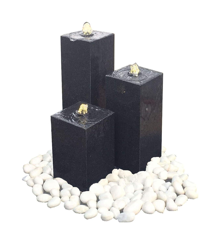 ca Granit Dehner Brunnen Pillar mit LED Beleuchtung 56 x 33 x 56 cm schwarz