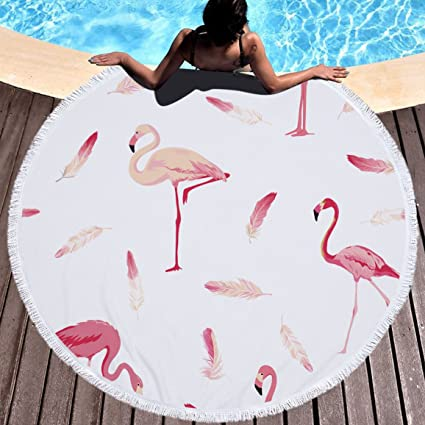 Amazon.com: WLEZY Beach Towel Round Beach Towel Microfiber Large Towel Blanket Printed Toalla Tassel Tapestry for Adults Woman 150cm: Sports & Outdoors