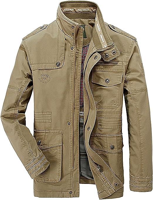 OLD-KING® Hombre Primavera Otoño Invierno Casual Botones Coat ...
