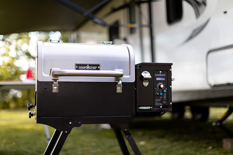 Camp Chef Pursuit 20 Portable Pellet Grill Fumoir, Acier
