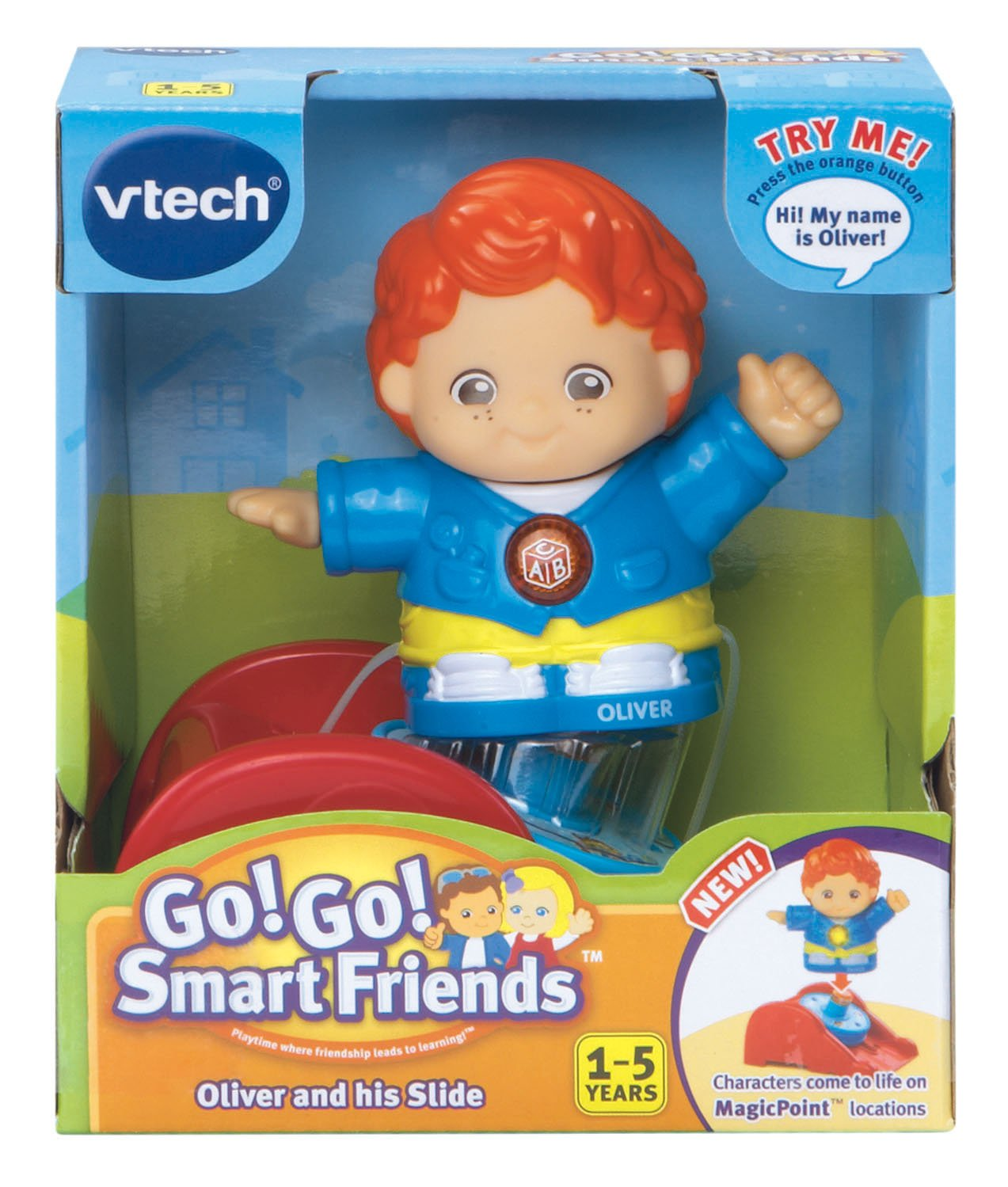 Amazon: Vtech Go! Go! Smart Friends Oliver And His Slide: Toys & Games