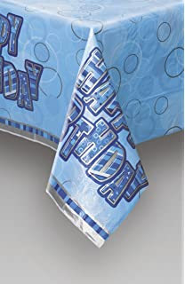 Age 18 Male Blue Silver Foil Party Banner Happy 18th Birthday