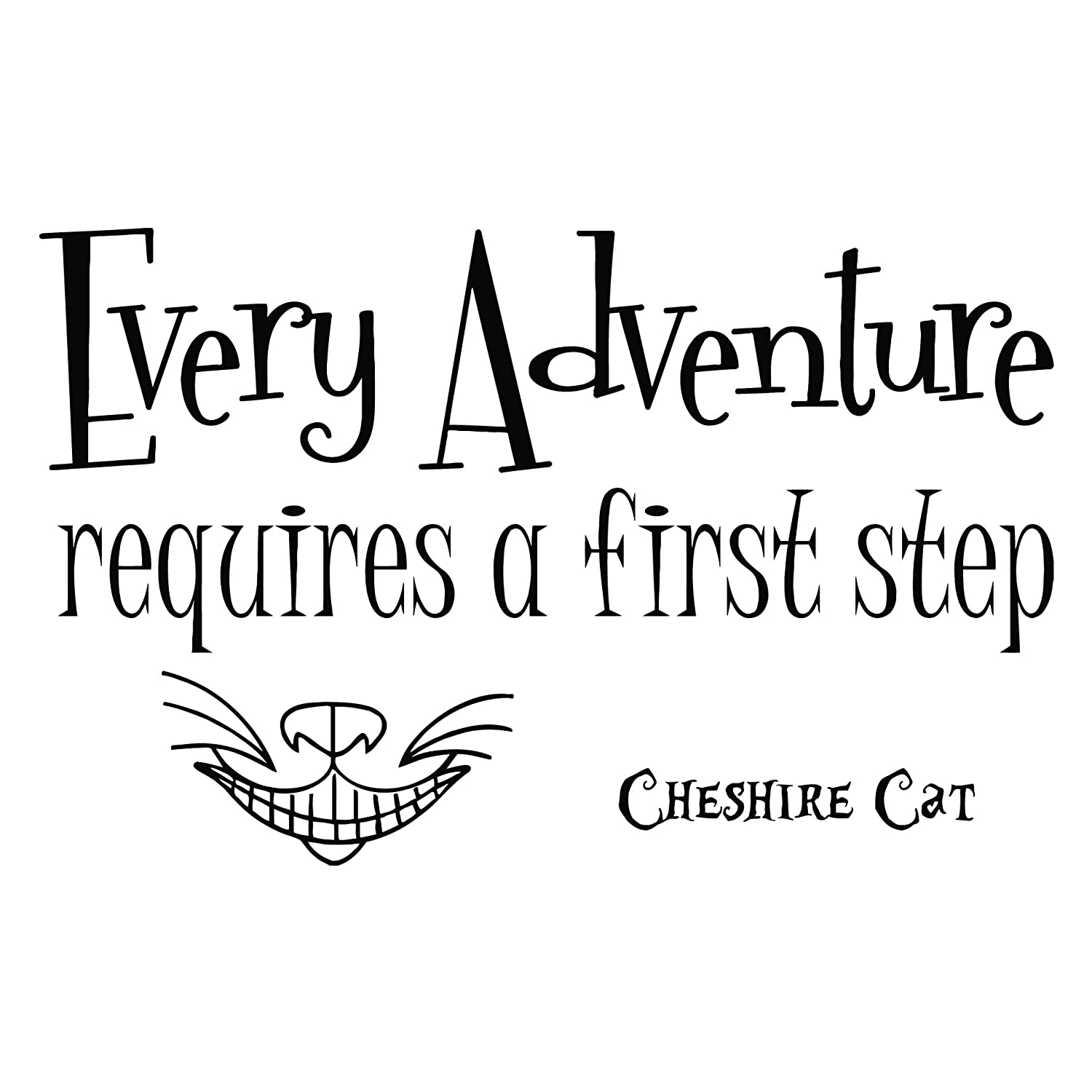 Wall Decals Quotes Alice In Wonderland Every Adventure Requires A