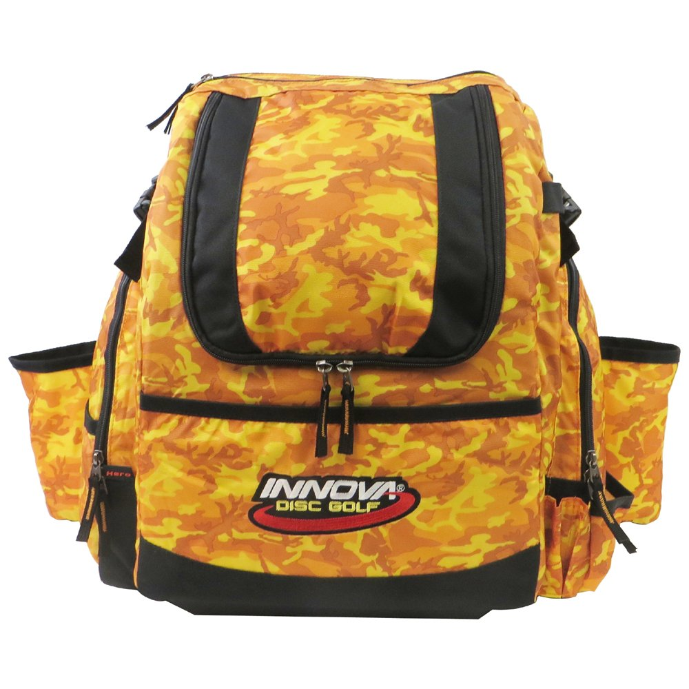 Innova HeroPack Disc Golf Backpack Bag (Orange Camo) by Innova