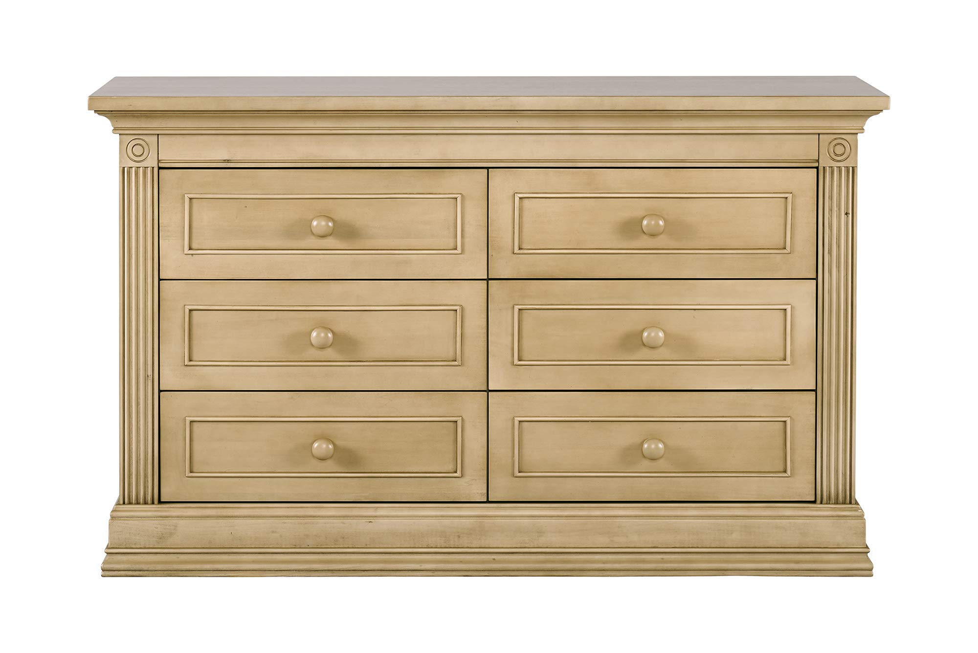 Montana Collection Natural Hardwood 6 Drawer Dresser | Lasting Quality & Design | Kiln-dried & Hand-Crafted Construction | 56'' x 18.5'' x 34'', Driftwood by Baby Cache