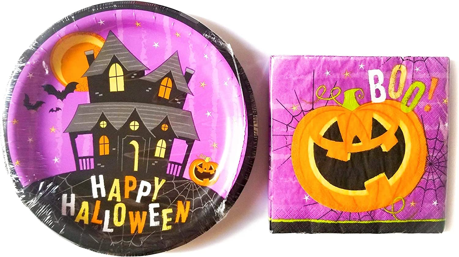 Haunted House Plates and Napkin Sets
