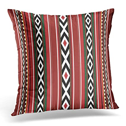 Upoos throw pillow cover black uae detailed vertical traditional sadu red qatar bedouin decorative pillow case