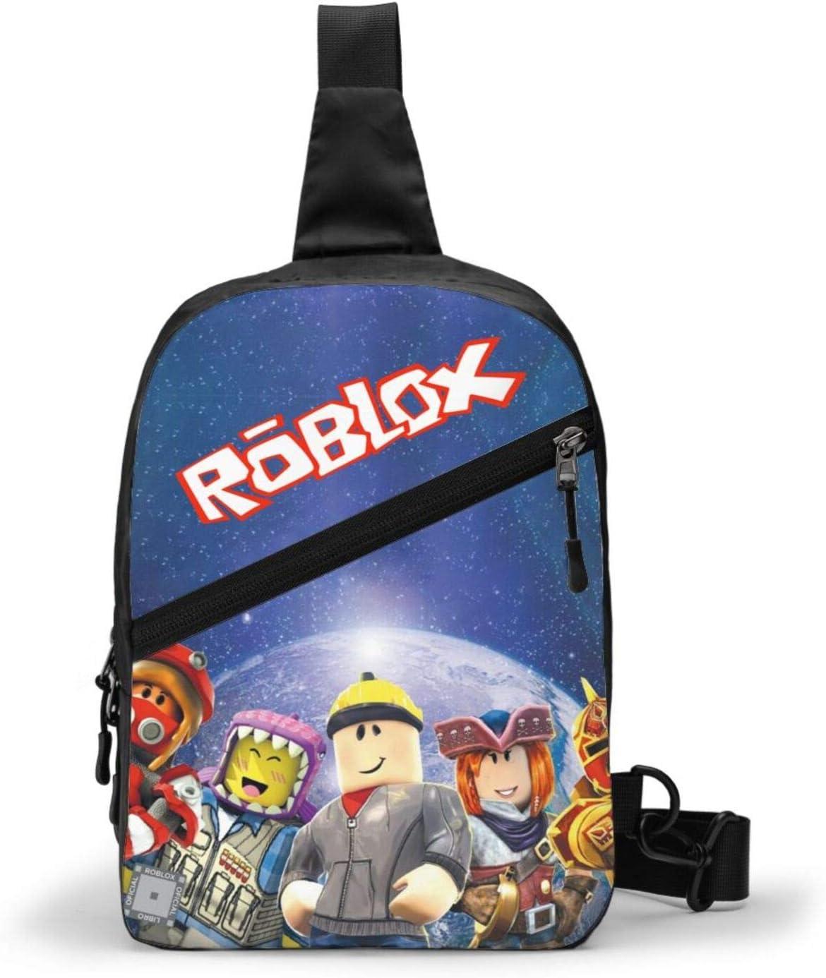 HUAJIELONG Sling Bag Crossbody Chest Shoulder Anti Theft Travel Backpack for Men Women Boys Waterproof - roblox