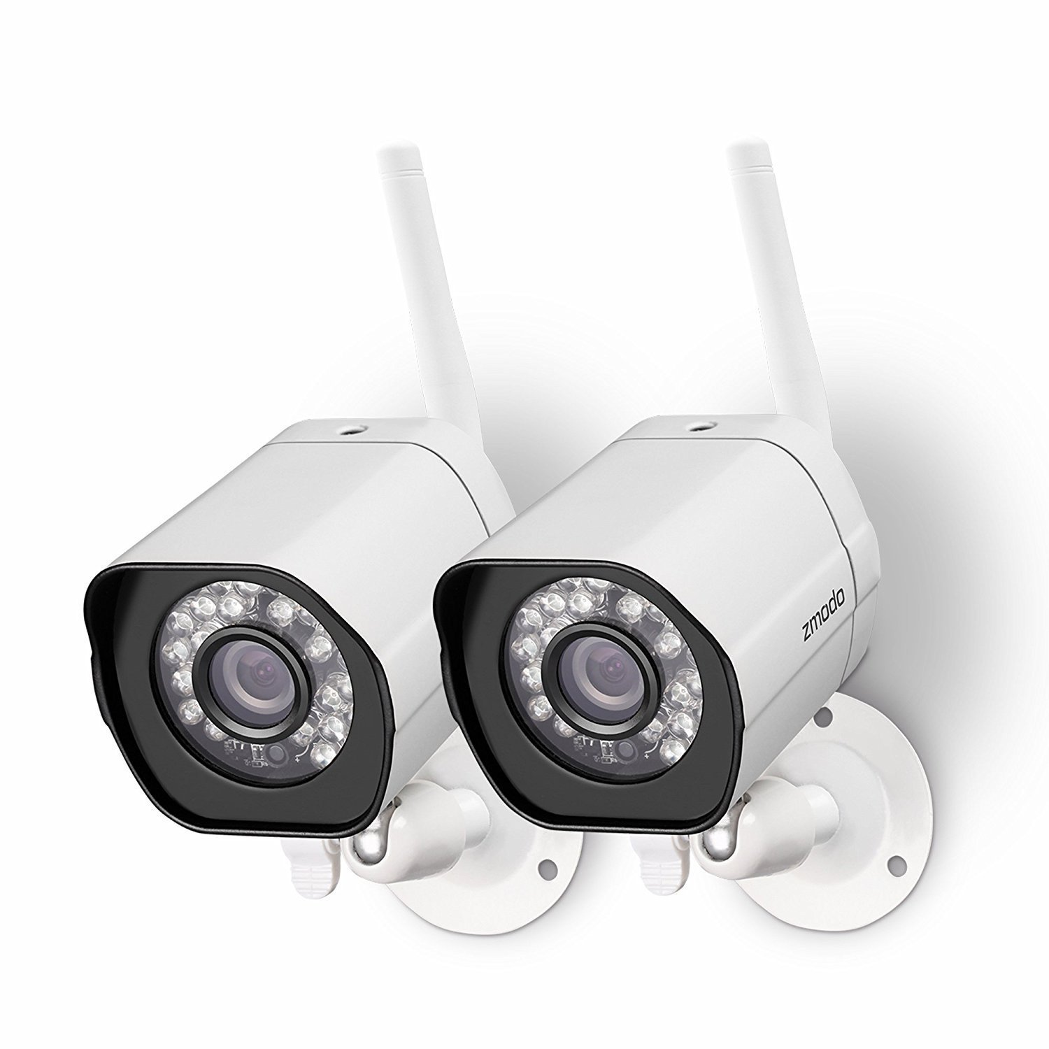 Zmodo Wireless Security Camera 防犯カメラ System ( 2 pack ) Smart HD Outdoor WiFi IP Cameras with Night Vision 夜間視力 (並行輸入品) B07BVFH2JS  2 Outdoor Cam One Size