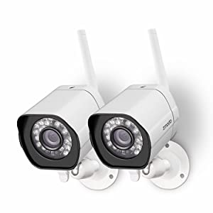 Christmas Gift Zmodo 2 Pack 720p High Definition WiFi IP Home Weatherproof Surveillance Security Camera System