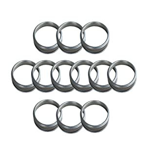 THINKCHANCES Food Safe and BPA Free Silver Stainless Steel Rust Resistant Bands/Rings for Mason, Ball, Canning Jars (12 Pack, Wide Mouth)