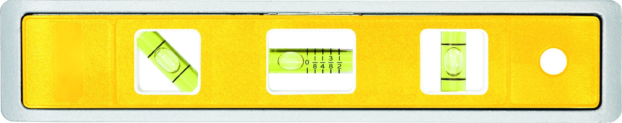 Johnson Level and Tool 1410-0900 9-Inch Multi-Pitch Torpedo Level with Rare Earth Magnets - 3 Vial