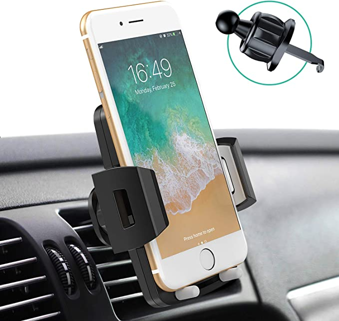 JELLICO Universal Car Phone Mount Car Phone Holder for Car Dashboard Windshield Air Vent Long Arm Strong Suction Cell Phone Car Mount Fit with iPhone SE 11 Pro X XS Max XR Galaxy S20 All Phones HO-77