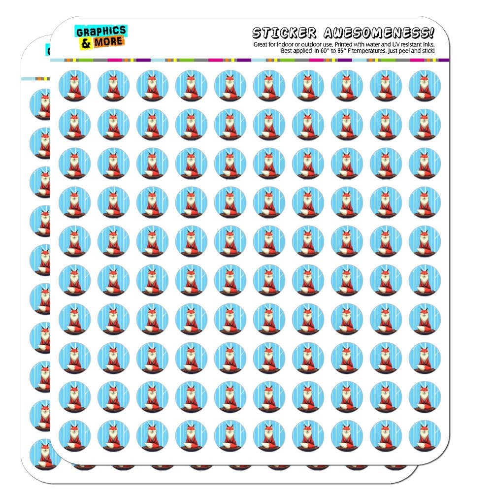Fox on Tree Stump Planner Calendar Scrapbooking Crafting Stickers