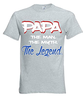 34e8c01af Amazon.com: Fresh Tees Papa The Man The Myth The Legend T-shirt Father's  Day Shirt papa shirts: Clothing