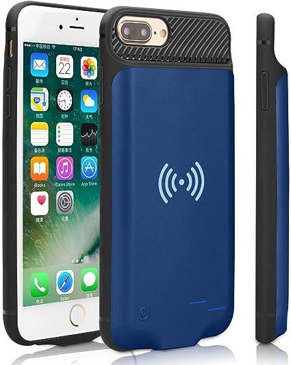 Epuirie Custodia con batteria per iPhone 6/6S/7/8 con ricarica wireless standard QI, 3800 mAh, batteria esterna portatile e ricaricabile, batteria di ...