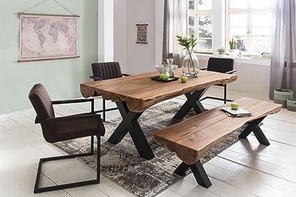 Table A Manger 200 X 100 X 77 Cm D Acacia Style Maison De Campagne