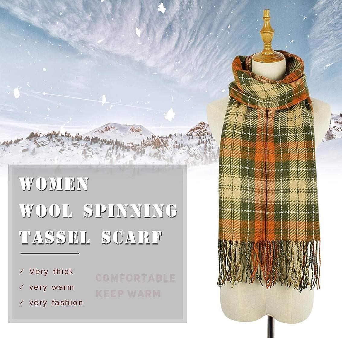 heekpek Mujeres caliente Mantas Cozy Pashmina bufanda larga tart/án enrejado mant/ón