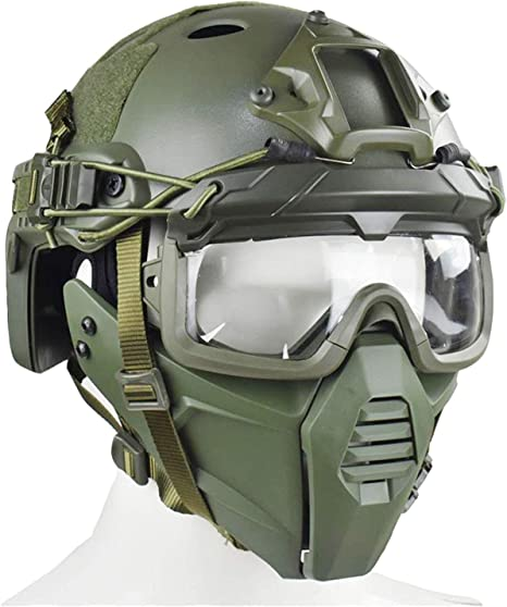 /Équipement de Protection Au Tir Et /À la Chasse Masque Int/égral de Masque de Protection pour Masque de Masque /À Masque Clair Et Cr/âne WLXW Masque Tactique Airsoft Et Casque de Paintball Rapide