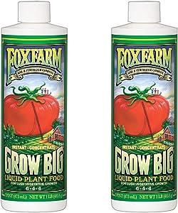 FoxFarm Grow Big Liquid Concentrate Plant Fertilizer, 2 Pint Bottles   FX14092