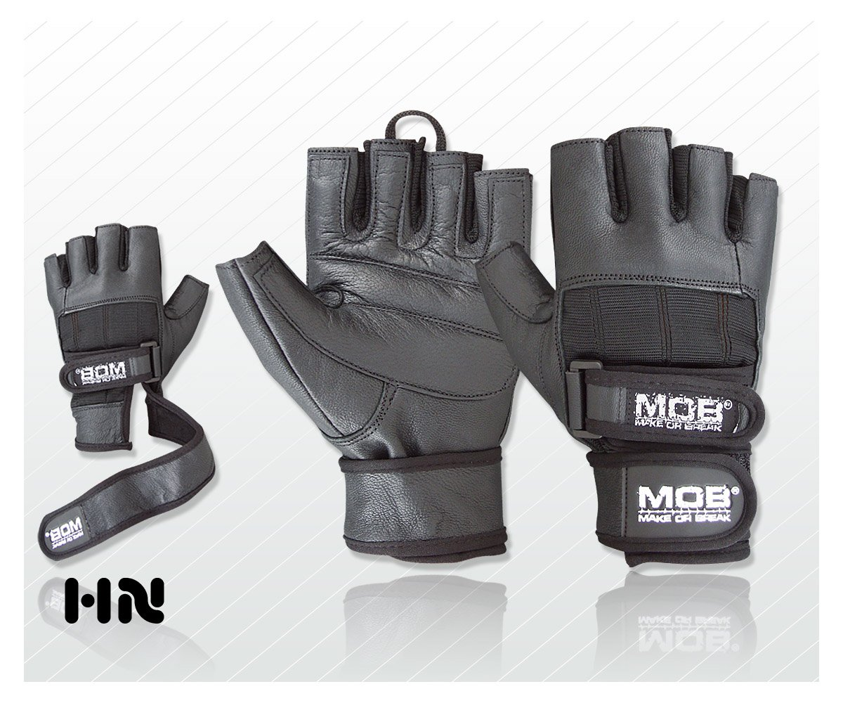 Leather Weight Lifting Gloves Power Lifting Lifter PADDED Palm Exercise Fitness Glove Cycling WheelChair Strengthen Home Gym (XS) Make or Break