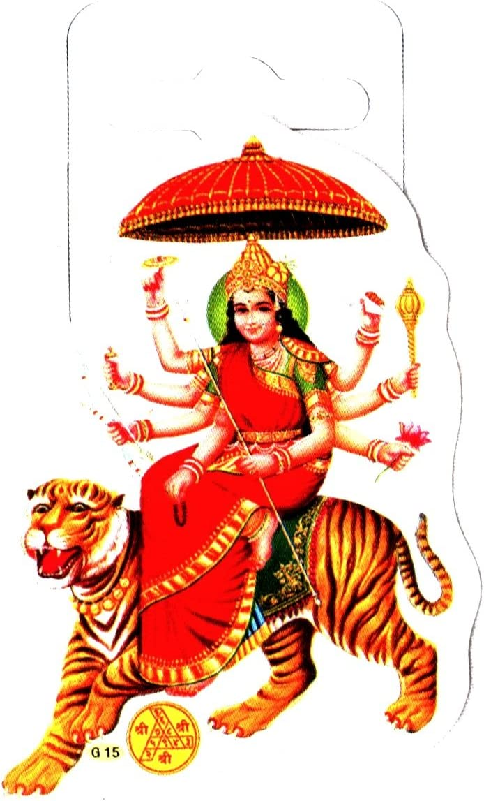 Adhesive Sticker –Hindu Religious Sticker Traditional Kali Maa Glitter Sticker