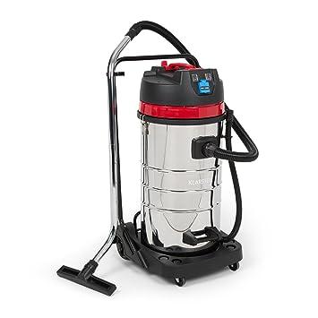Klarstein Reinraum - Aspirador industrial de seco-húmedo, aspira líquidos (1800 W, 30 L, toma integrada de 1600 W). 2400 Watt Nero / Rosso: Amazon.es: Hogar