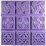 Milky Way Brocade Soap Mold Tray - Clear PVC - Not Silicone- Makes 4 oz Bars.