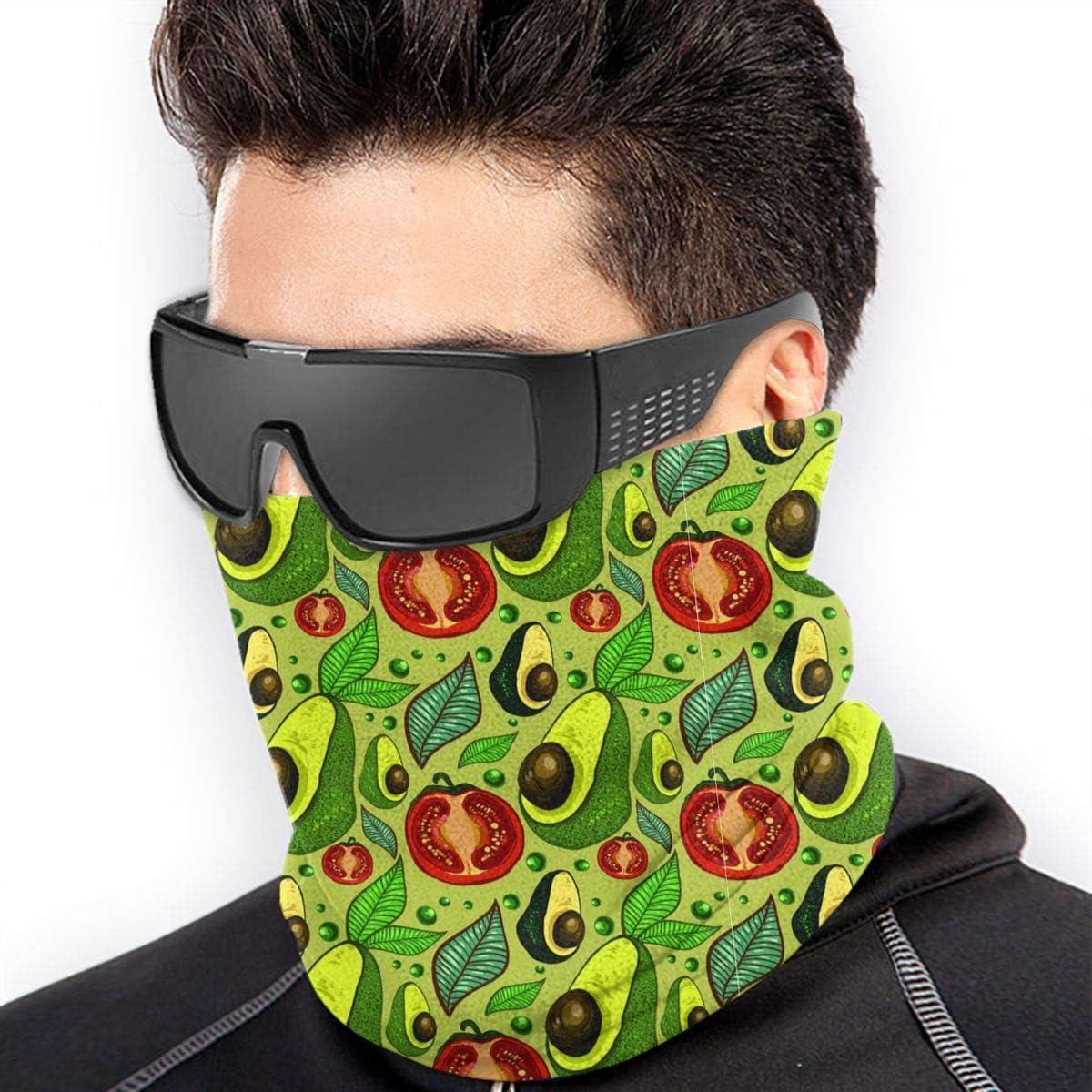 Vegetables Avocado Tomato Peas Neck Warmer Gaiter For Men Women Headband Face Mask Bandana Head Wrap Scarf Headwear Winter Balaclava For Ski Running Motorcycle