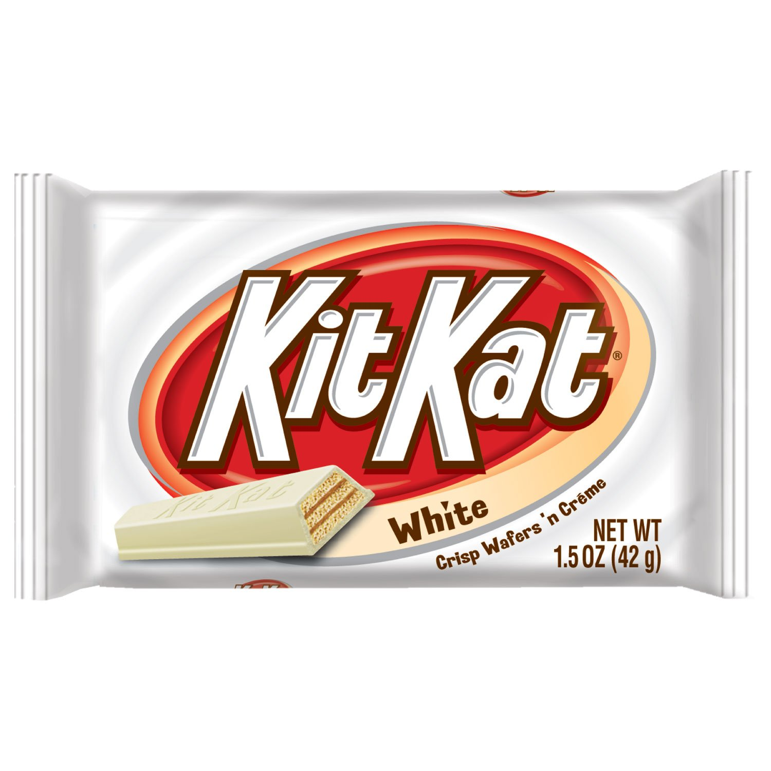 Amazon Com Kit Kat White Creme Wafer Bars Candy 1 5 Ounce Box Of 24 Candy And Chocolate Bars Grocery Gourmet Food