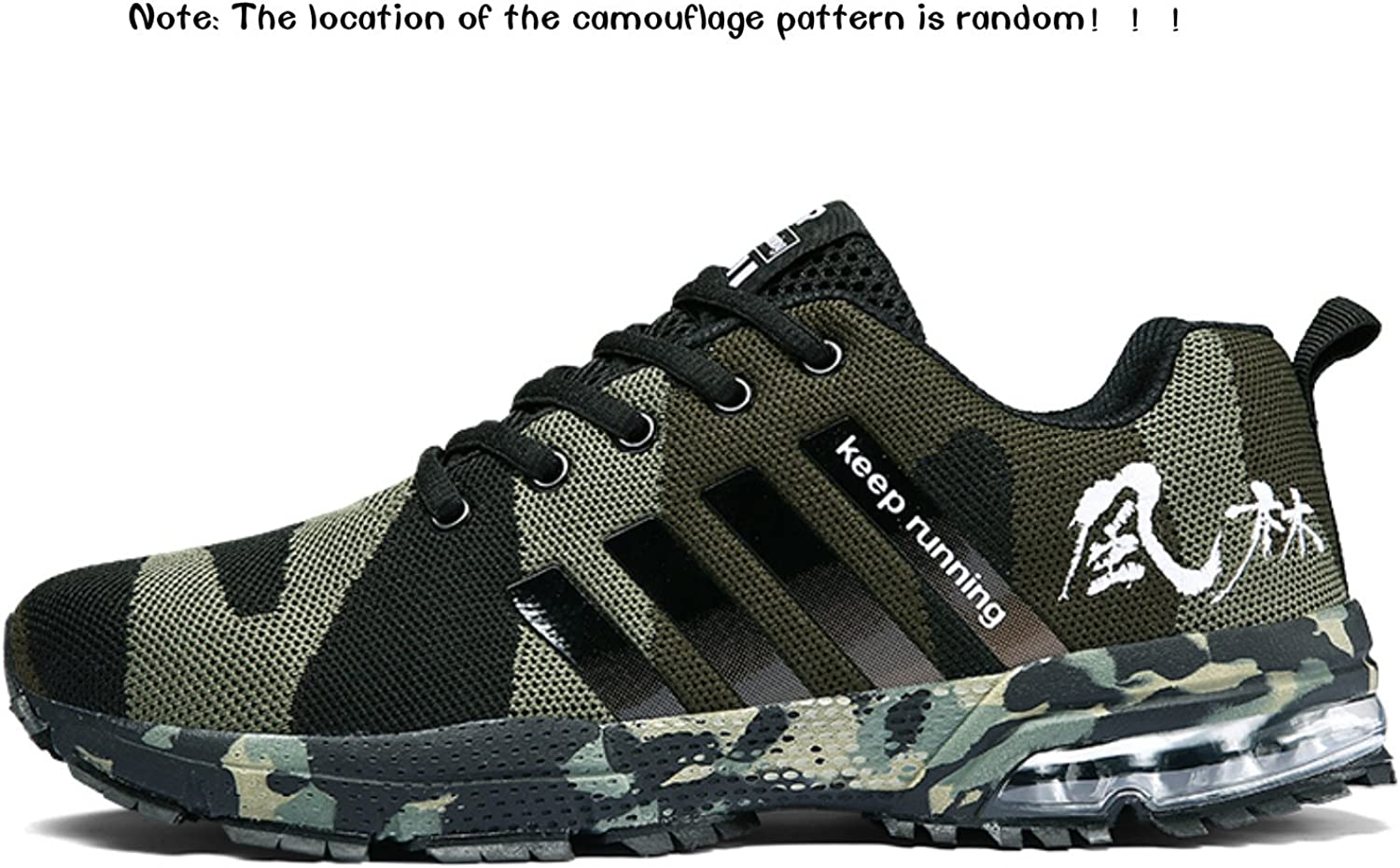 Topteck Air Cushion Running Shoes Men Womens Lightweight Sports Sneakers Athletic Walking Tennis