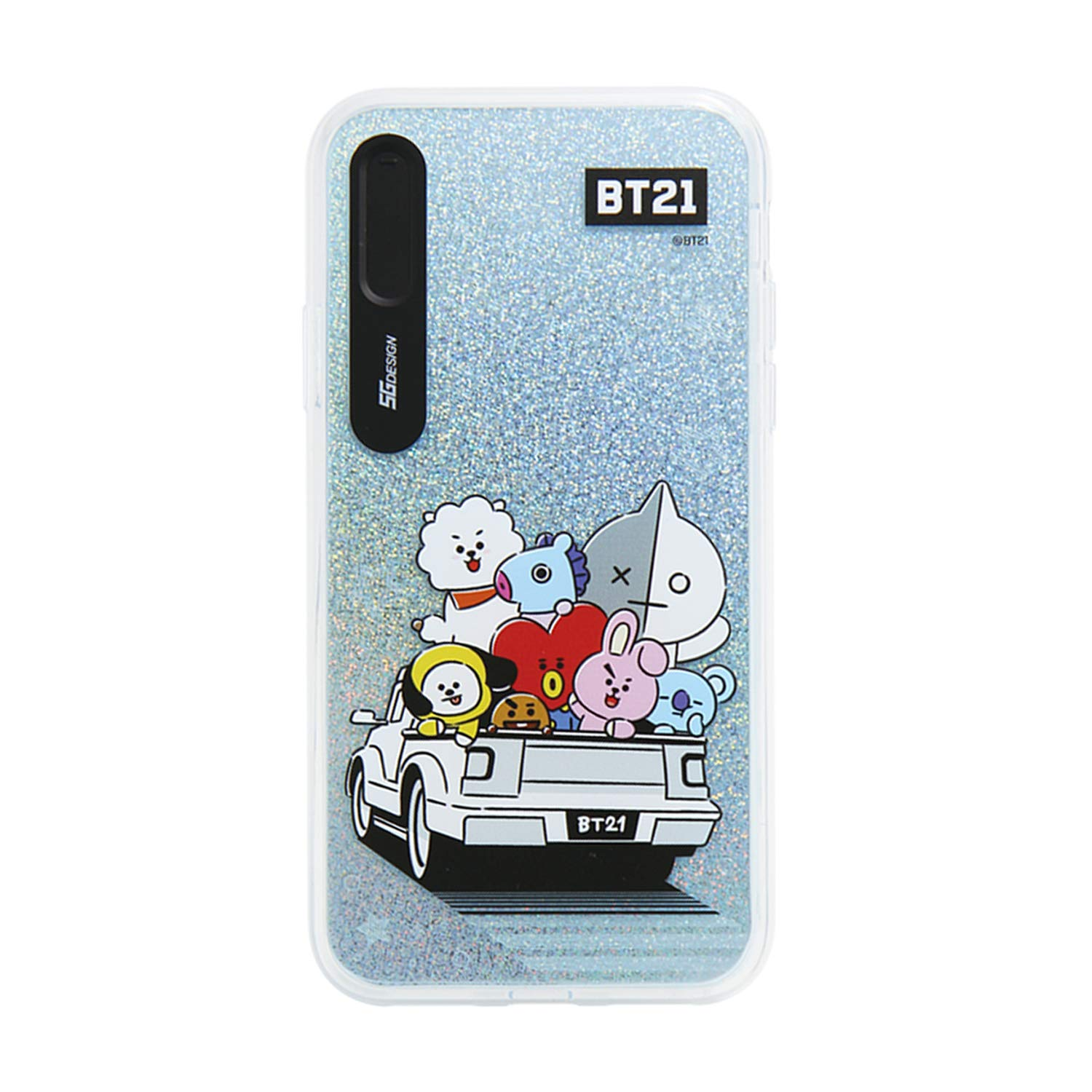 new concept 96758 fefe1 iPhone Xs Max Case, BTS BT21 Official Light Up Phone Case-Hang Out (Travel)
