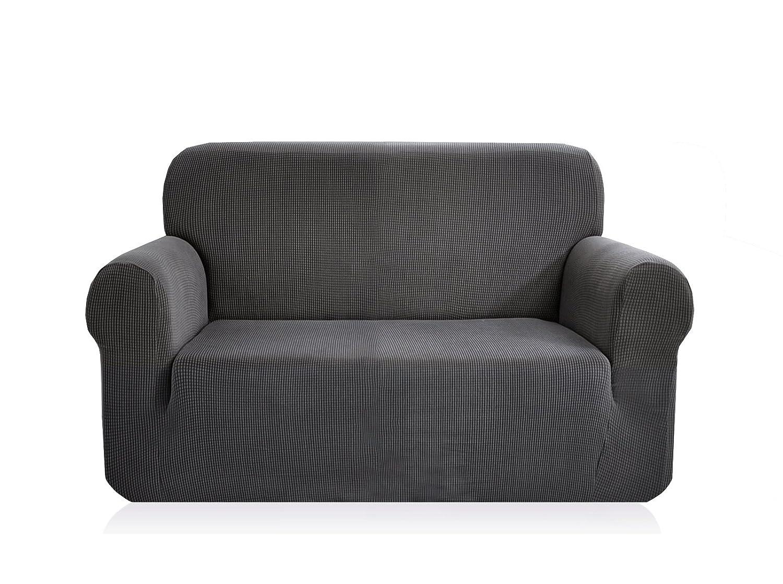 Ebeta Elasticità Copridivano, Coprisofà Jacquard divano Fodere, Fodere per divano, poltrona 1 posto (Bianco avorio, 85-115 cm)